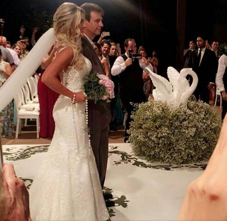 Fotos do casamento Gusttavo Lima e Andressa Suita. Entrada da noiva.