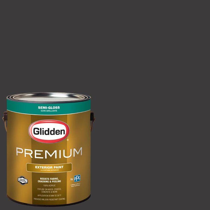 Glidden Premium 1 gal. #nba-042G Golden State Warriors Dark Gray Semi-Gloss Exterior Paint