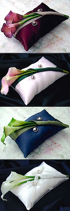 ateliersarah's ring pillows (calla lily)