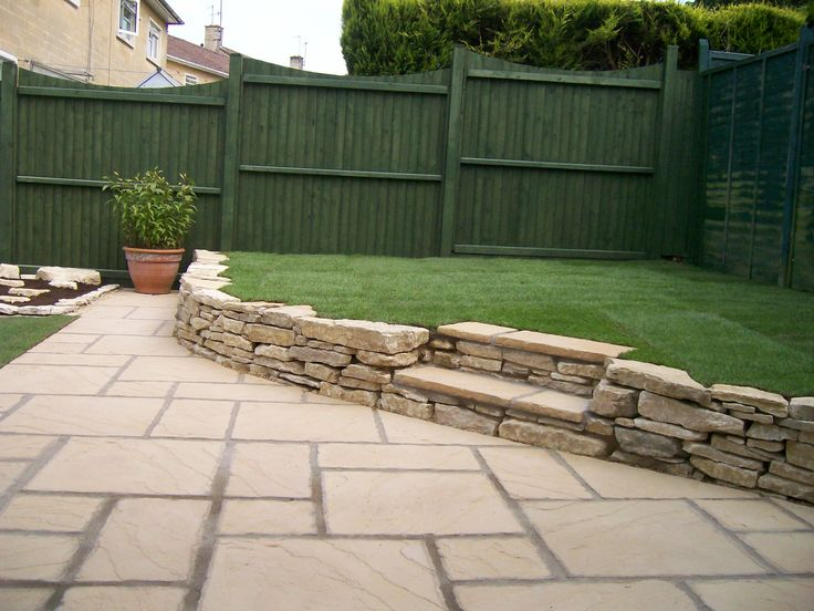 Stairs In Lawn Bath Stone Steps Natural Stone Wall
