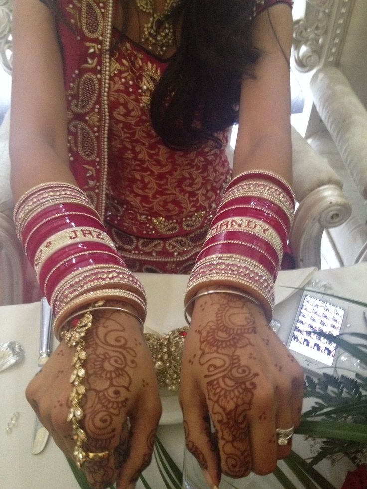 Wedding bangles with bride and groom name