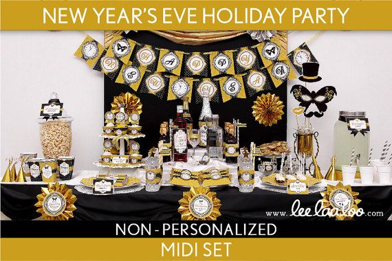 New Years Eve Holiday Party Package Collection Set by LeeLaaLoo, $27.00