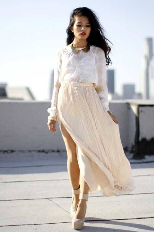 .: Shoes, Long Dresses, Outfits, Blouses, Style, Clothing, Club Monaco, White Lace, Long Maxi Skirts