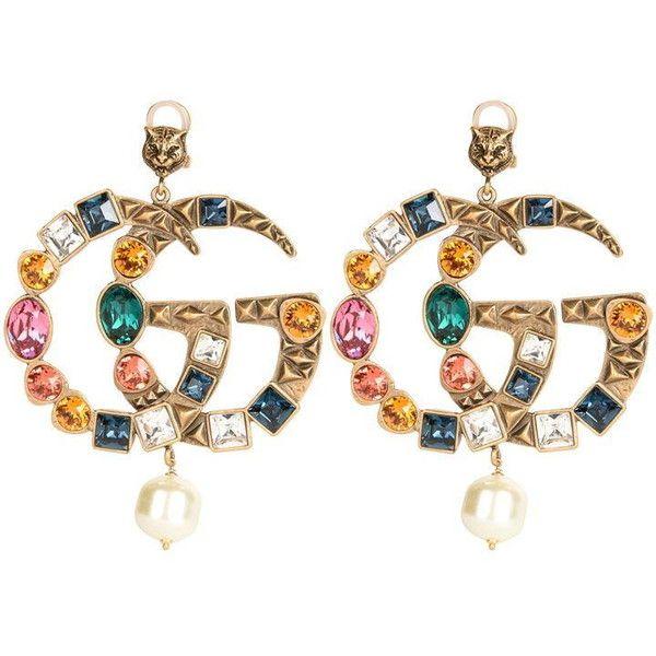 f9d363b1799 Gucci Crystal Gg Earrings (33