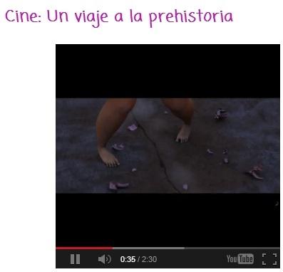 CINE: UN VIAJE A LA PREHISTORIA http://safatragapalabras.blogspot.com.es/2013/05/cine-un-viaje-la-prehistoria.html