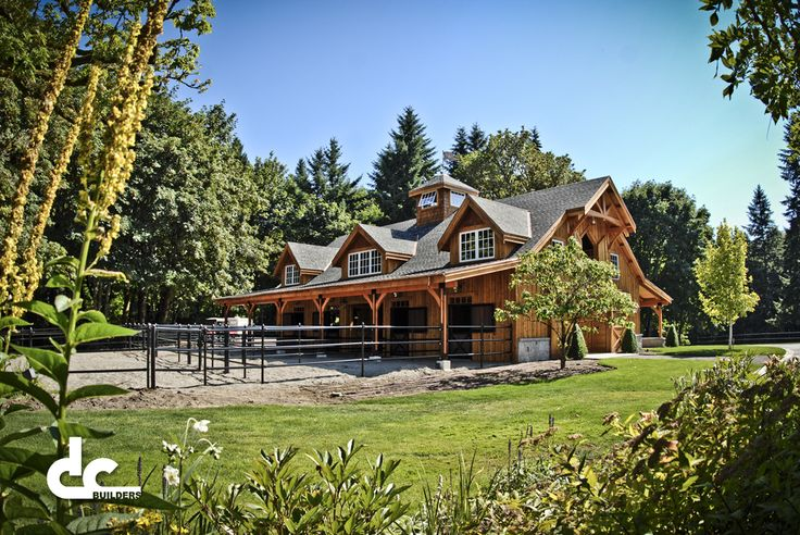 35 best horse barns images on pinterest horse stables for Barn builders oregon