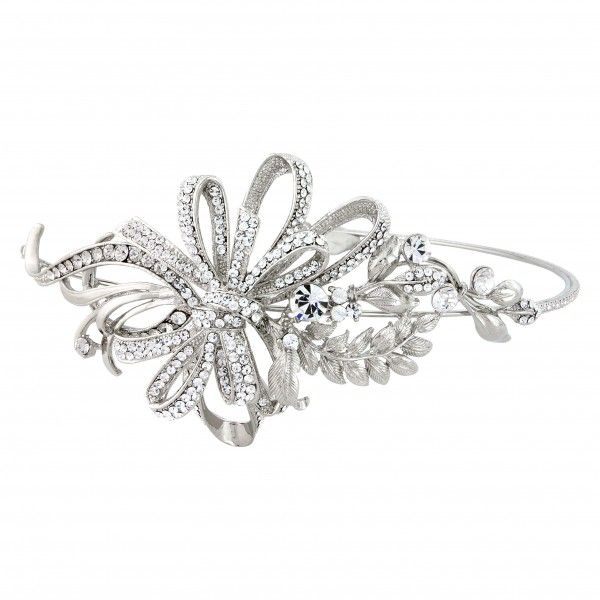Our Beauty Side Tiara by Glitzy Secrets is perfect for brides who adore timeless style. View our range of elegant tiaras online at Glitzy Secrets.