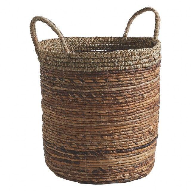 TENY Banana leaf and sisal woven storage basket