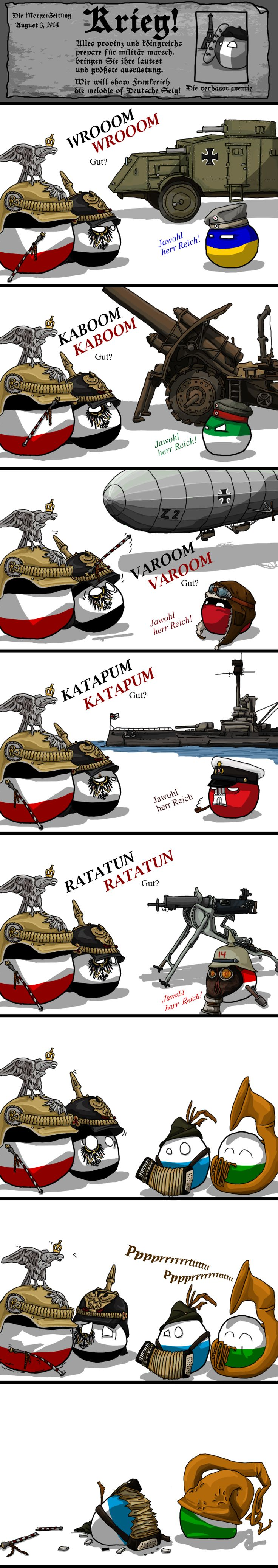 The melody of german victory. (Germany) by yaddar  #polandball #countryball