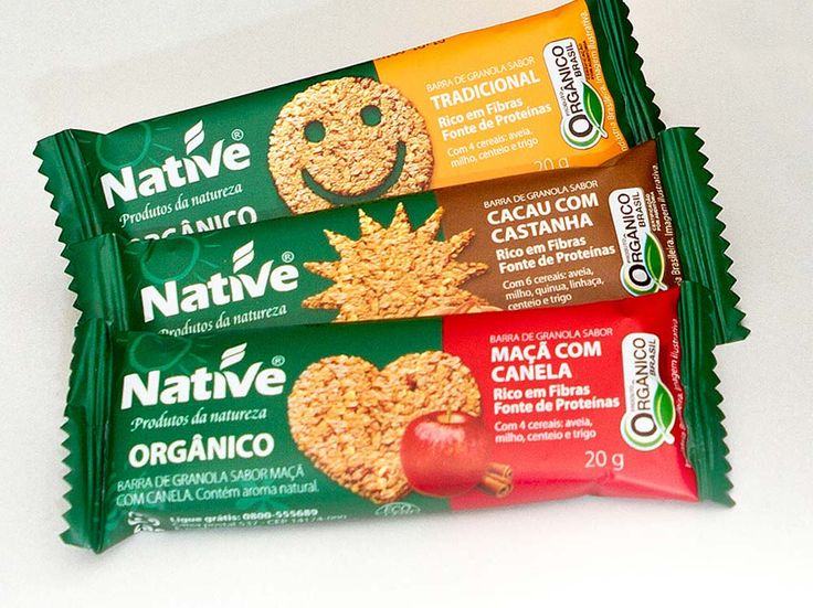 Barrinhas orgânicas Native