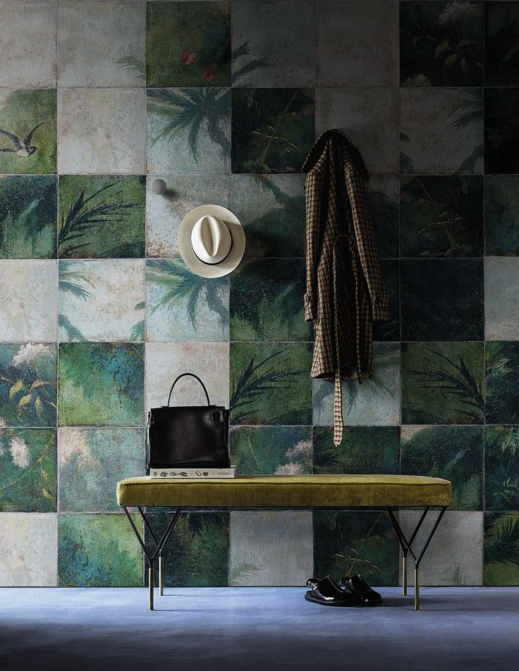 Exotic damier By wall&decò, check wallpaper design Paolo Badesco, contemporary wallpaper 2016 Collection