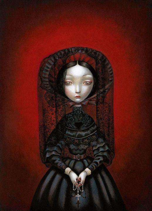 """The Widow"" by Benjamin Lacombe (© 2009)."
