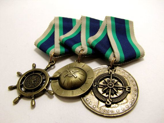 CHOOSE your Own Medallion - Steampunk / Dieselpunk - Award Medal - Medal of Honor - Soviet Style ribbon