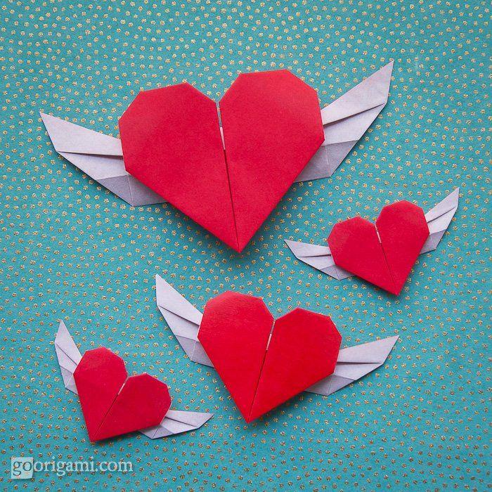 Flying Origami Heart