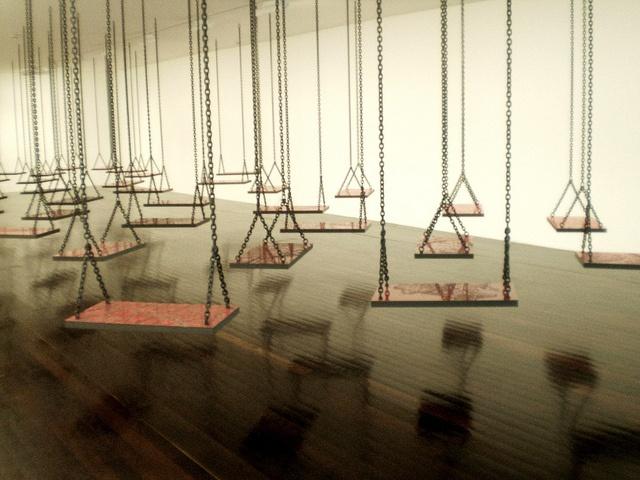 Mona Hatoum 'Suspendu' (Hanging), 2009-10, Musée d'art contemporain Val-de-Marne, MAC / VAL, (Museum of Contemporary Art), Paris