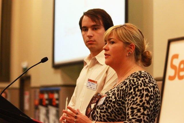 Cath Davis addressing ACTU Youth Congress