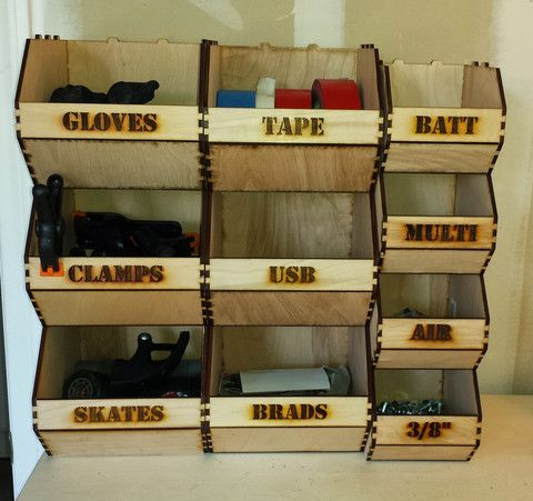 These Versatile Storage Bins Are Great For Organizing Your Space. They Work  In The Office, Shop, Craft Room, Etc. They Are Made Of Plywood