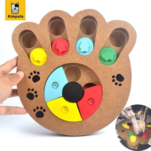 Интерактивные Игрушки для Собак и Кошек Питание Обработанные Деревянные Собака Toy Eco-Friendly Щенок Pet Игрушки Обучающие Pet Кость Paw Головоломки игрушка