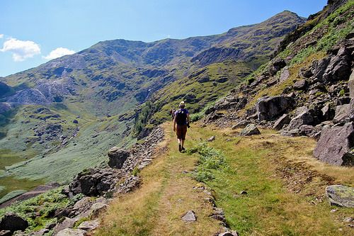 Walking up The Old Man of Coniston - Lake District