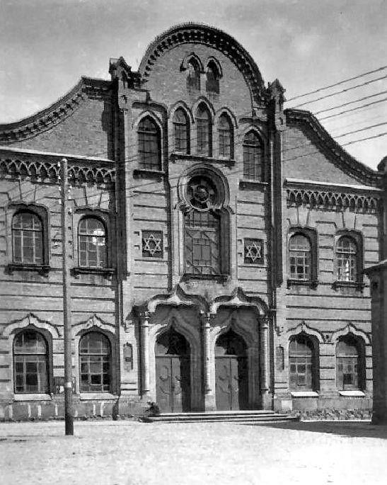 The main synagogue in Wołkowysk.