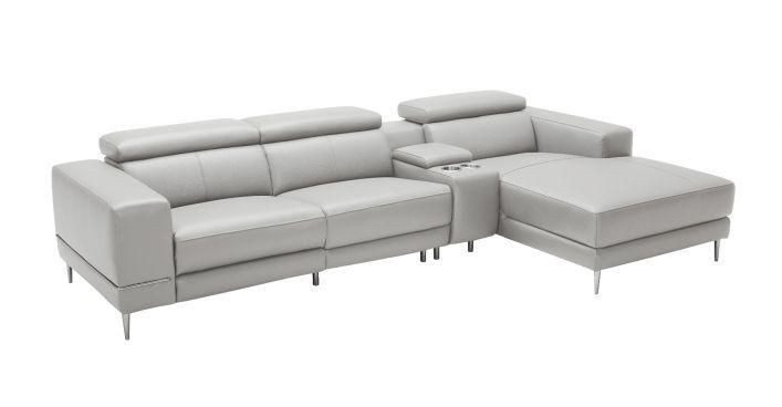 Bergamo Sectional Motion Sofa Light Gray | Contemporary Modern Living Room Furniture, Modern Furniture Living Room, Living Room Furniture Store
