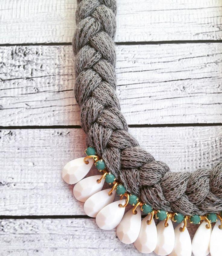 #StatementNecklace #Summer #Braided #Rope #Bohemian #grey