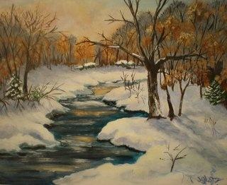 Winter Interlude by janetglatzmaineart.com  #maineartJanetglatzmaineartcom Maineart