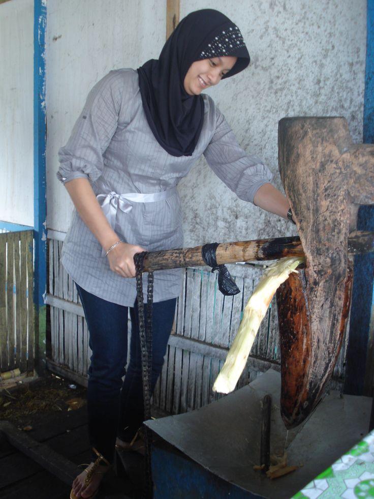 membuat air tebu cara traditional