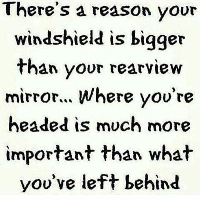 Where you are head is much more important than what you left behind