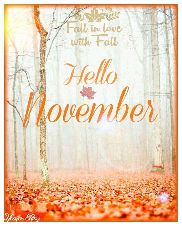 Pretty Girl Quotes Wallpapers Hello November Noviembre Months Holidays Meses Dias