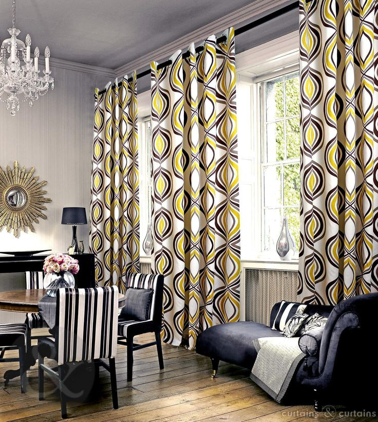 Best Imperial Mustard Yellow Eyelet Luxury Lined Curtain 640 x 480