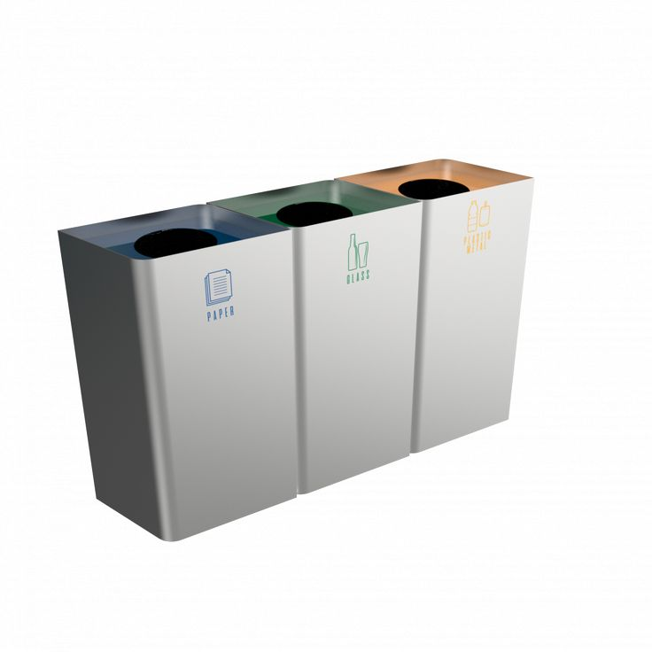 POLLUX SST - Stainless steel recycling bins with modern design
