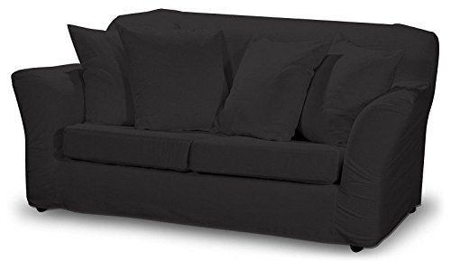 Dekoria Fire Retarding Ikea Tomelilla 2-seater sofa cover - graphite grey with a hint of brown
