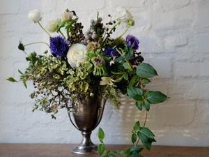 Trophy Arrangement, $150.00Floral Design, Studios Choo, Blue Pop, Blue Green, Flower Arrangements, Floral Arrangements, Floral Inspiration, Flower,  Flowerpot