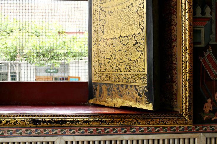 Ventana arte tailandés Thai art window