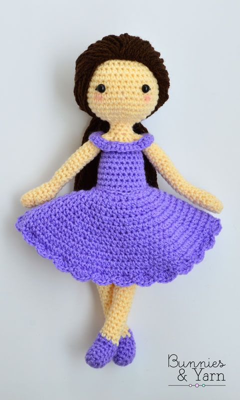 Amigurumi Hawai Doll : Patr�n de crochet mia mu�eca amigurumi cm in