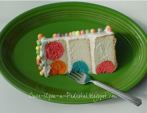 Polka dot cake! So cute.