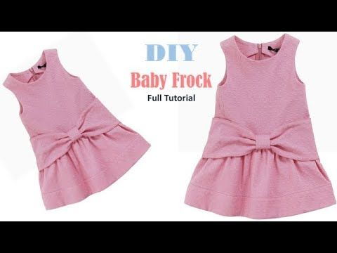 fbce2dd3 Diy Designer Baby Frock Cutting And Stitching Full Tutorial - YouTube