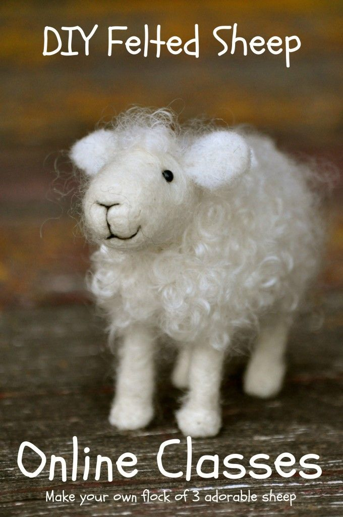 "BEGINNERS -- ""Make your own flock of 3 adorable SHEEP"" -- TERESA PERLEBERG, BearCreekFelting -- (fee)"