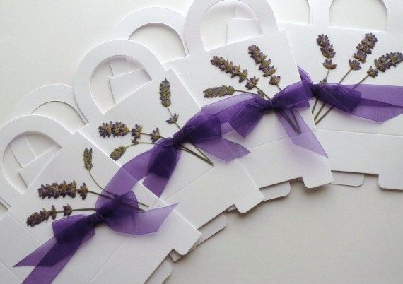 Pressed Flower Gifts | Pressed flowers lavender bouquet favor by PatsysPressedFlowers, $15.00