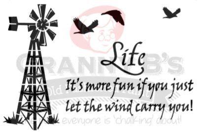 Windmill Life Stencil