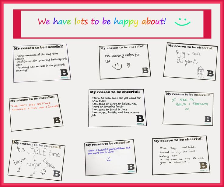 With yesterday being Blue Monday, we thought we would write down the things that makes us happy :)