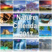 Best Nature Desktop Calendar 2017
