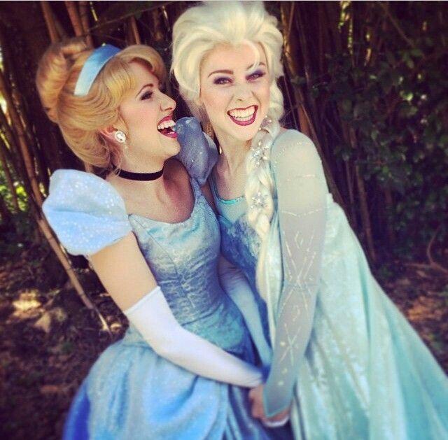 Cinderella and Elsa