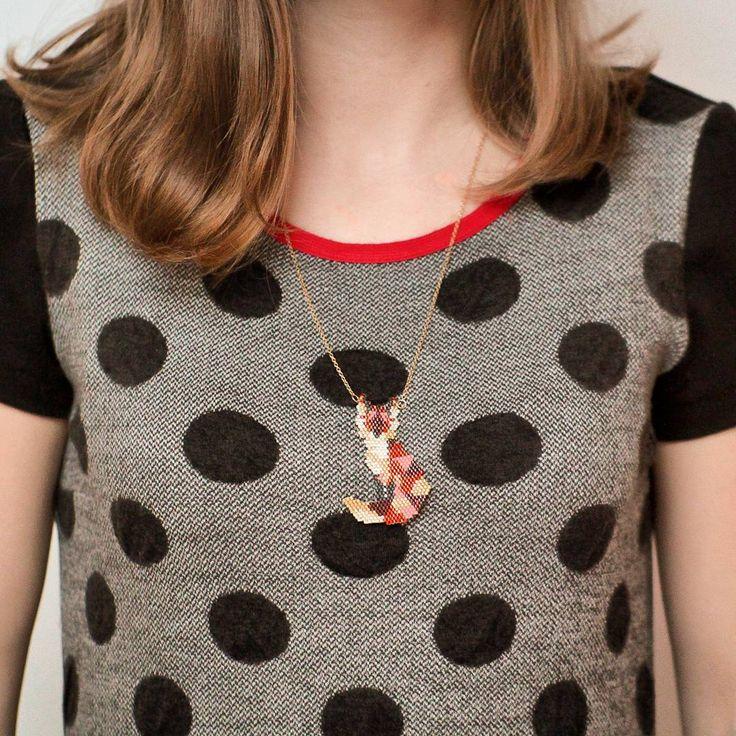 árbore·do·fogo (@arboredofogo) • handmade jewelry, handmade jewellery, handmade earrings, shop small nz, handmade in nz, smallbiz, etsy shop, handmade business, love etsy, shop local, fox necklace, fox pendant