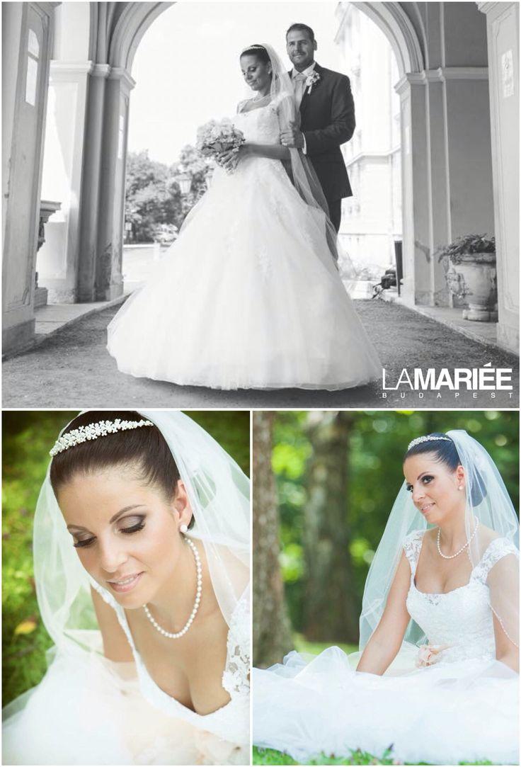 Bia esküvői ruha - Pronovias 2015 - Tímea   menyasszonyunk  http://mobile.lamariee.hu/eskuvoi-ruha/pronovias/bia_2