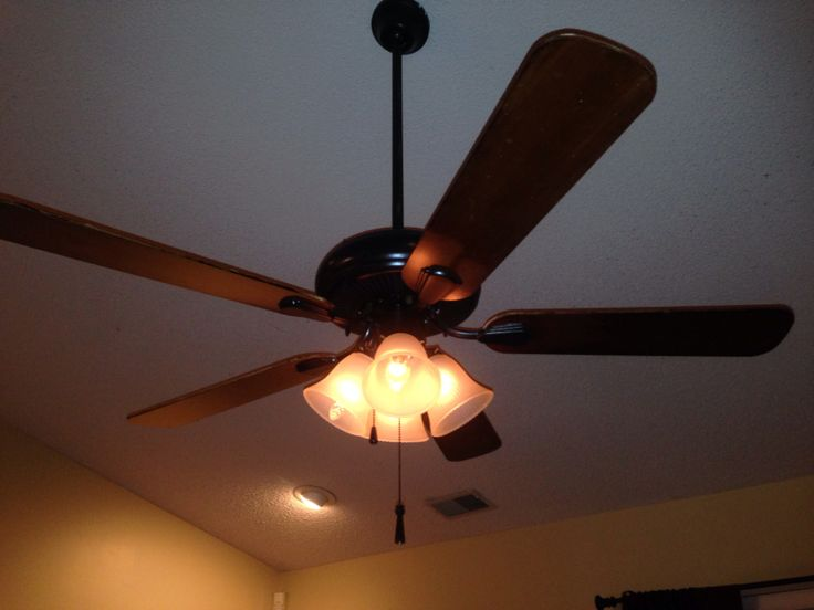 Spray Painted White Ceiling Fan With Gold Trim Used A