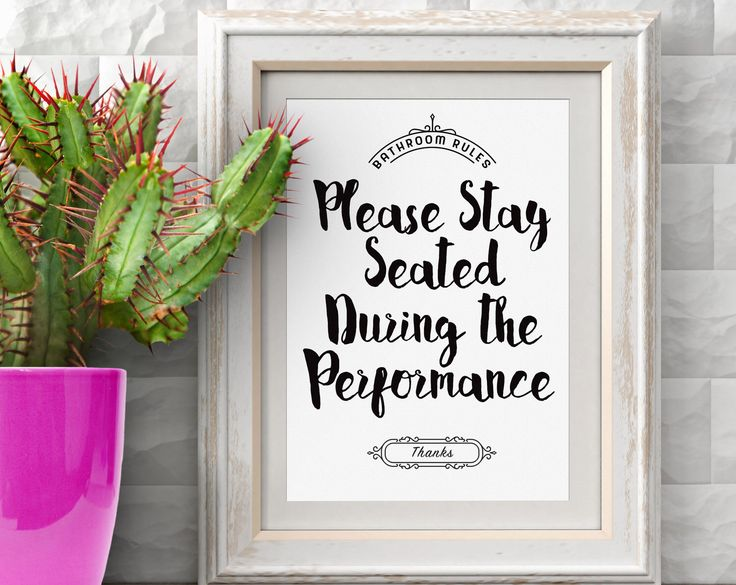 Please Remain Seated Bathroom Sign, Toilet Funny Sign, Restroom Signs, Water Closet Print, Bathroom Print Funny Toilet Sign Instant Download by AndrewKelsallDesign on Etsy https://www.etsy.com/listing/507455807/please-remain-seated-bathroom-sign
