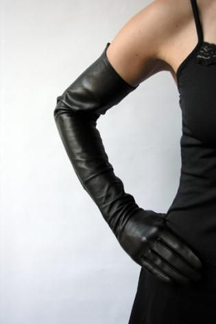 My Sensual shoulder high Gloves. Just like Marlene Dietrich... #fashion #leathergloves #elegant #party