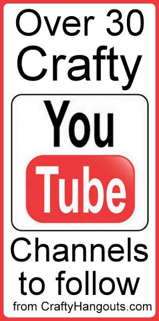 Love crafts? A list of over 30 great crafty YouTube channels to follow.